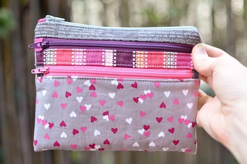 valentinesy triple zip pouch