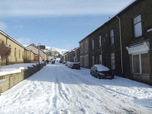 Snow in Haslingden, Rossendale, Lancashire, England - January 2013