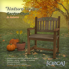 "@ SOS Event - [CIRCA] - ""Nature Valley"" - Garden Chair - In Autumn"