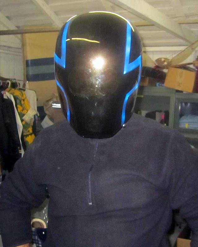 Projektor Helmet Closeup
