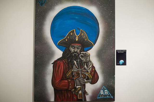 Black Beard as Neptune god of the Sea