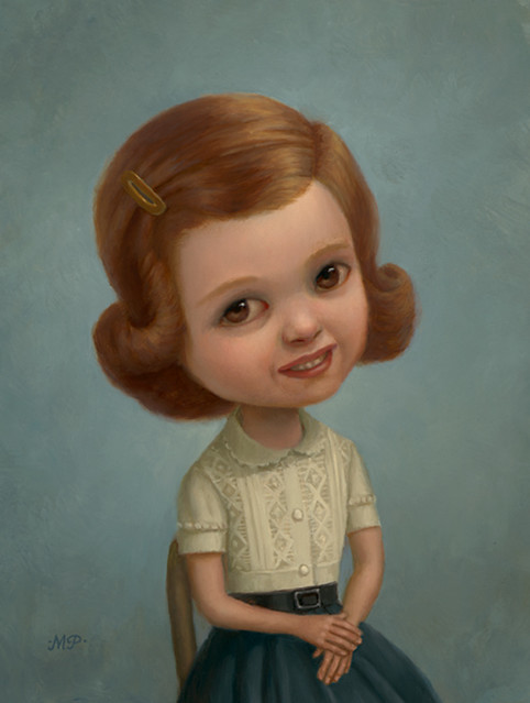 Marion Peck, Nice Girl, Oil on panel, 2008