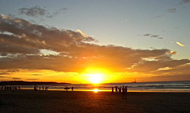 sunset in drake bay costa rica