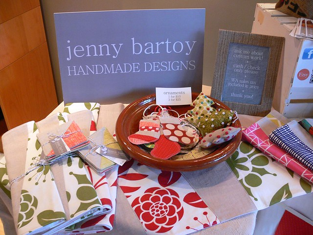 Jenny Bartoy booth at Holiday Arts + Crafts Open House