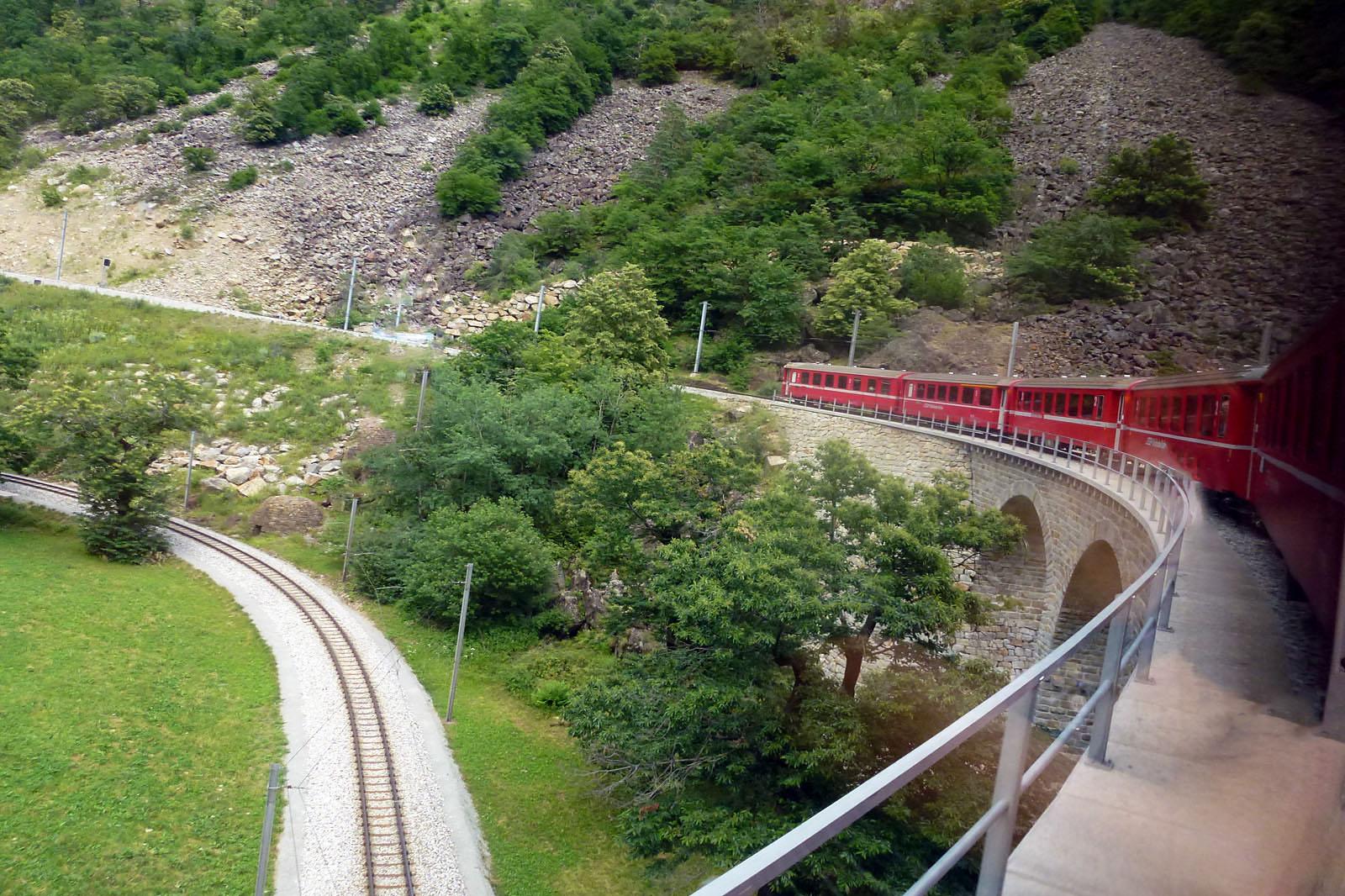 Otra imagen del viaducto de Brusio
