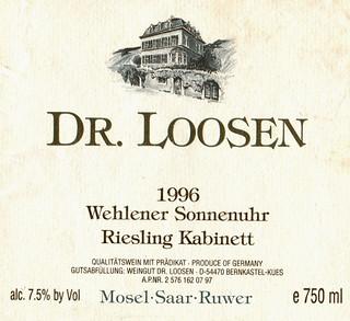 1996 - Wehlener Sonnenuhr (Mosel)