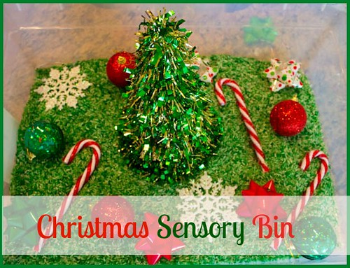 Christmas Sensory Bin (Photo from Love, Play, Learn)