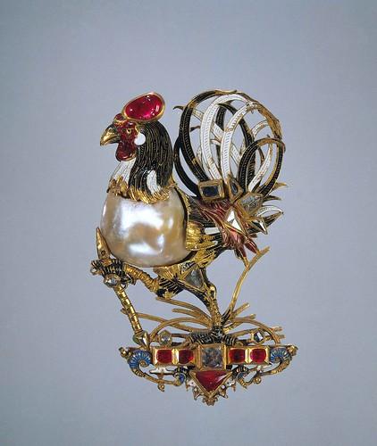 007-Colgante en forma de un gallo, anónimo, 1600- Rijksmuseum