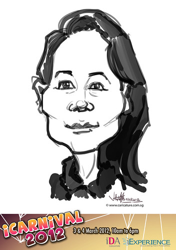 digital live caricature for iCarnival 2012  (IDA) - Day 1 - 70