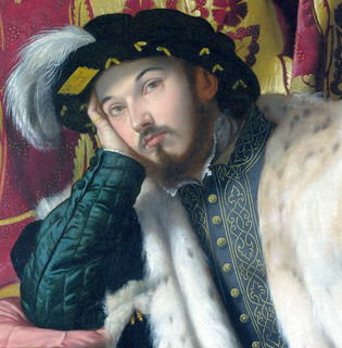 Moretto da Brescia - Portrait of Count Fortunato Martinengo Cesaresco 2d detail uhr [1540-42] - GAP