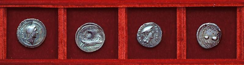 RRC 483 Q.NASIDIVS Sextus Pompey, RRC 484 C.ANTONIVS Caius Antony, Ahala collection Roman Republic