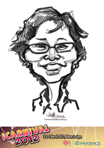 digital live caricature for iCarnival 2012  (IDA) - Day 1 - 25