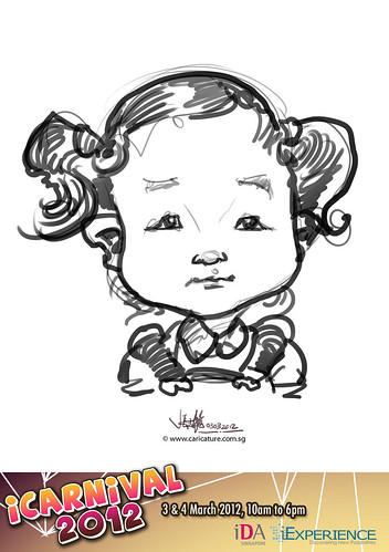 digital live caricature for iCarnival 2012  (IDA) - Day 1 - 36