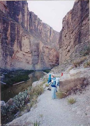 Trail through Santa Elena Canyon, Big Bend National Park, Texas