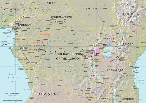 Gorillas: Central Africa (Map)