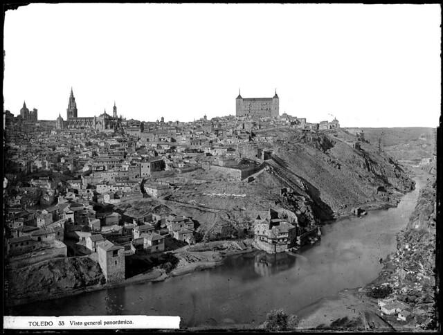 Toledo hacia 1870. Fotografía de Jean Laurent.© Fototeca del IPCE, Negativo 03007