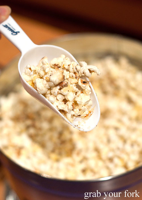 parmigiano reggiano truffle popcorn at stomachs eleven dinner party christmas 2012