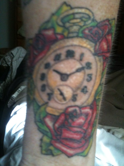 My stop watch tattoo flickr photo sharing for Stop watch tattoos