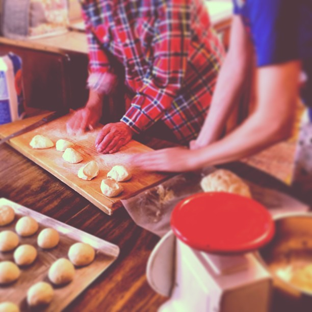 A dinner roll workshop with Grandma. #christmastime #familyrecipes