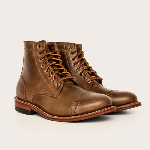 Oakstreet Bootmakers natural captoe trench boot