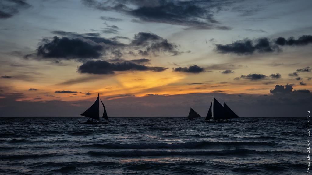 Закат на остров Боракай