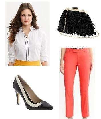 Hampton fit orange crop pants