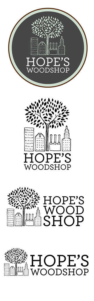 Hope's Woodshop logo