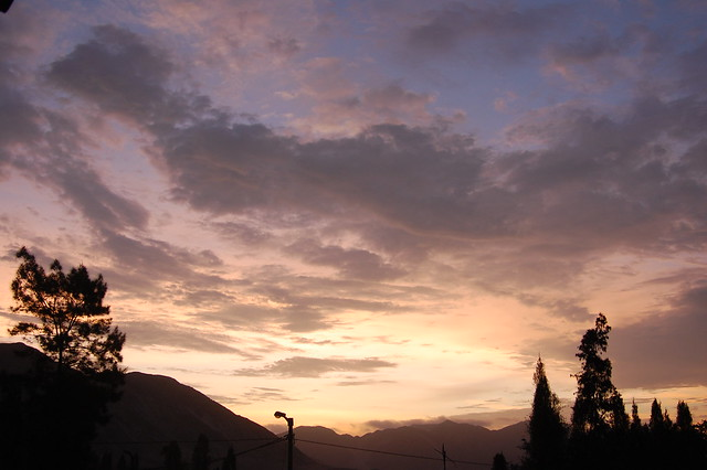 Sunset from Caral