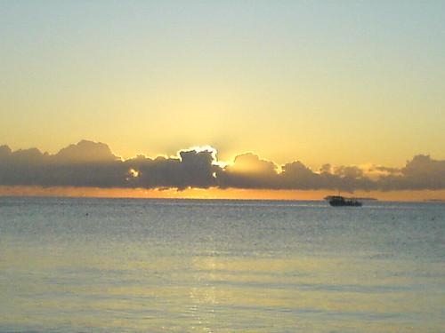sunset sea scotland