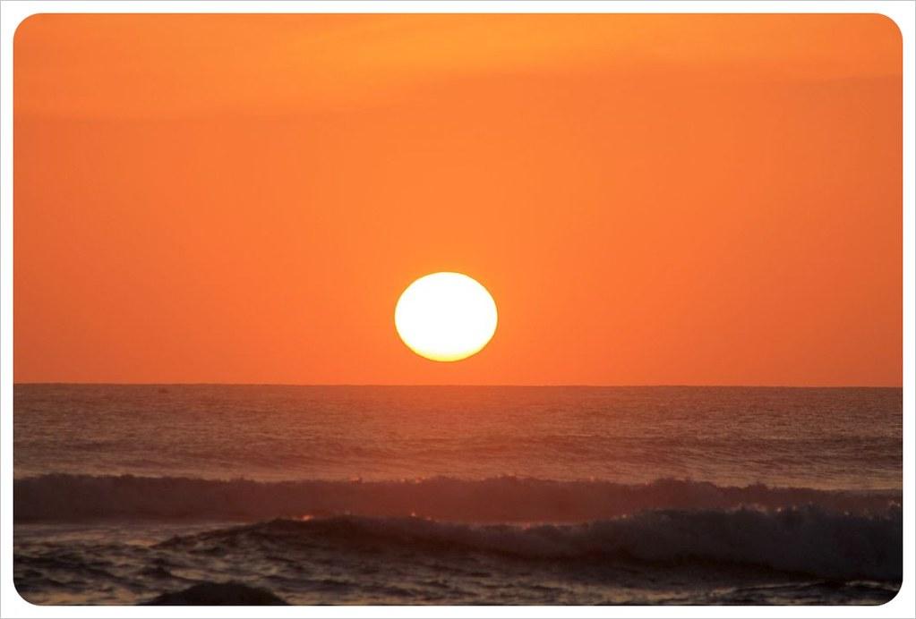 sunset nosara