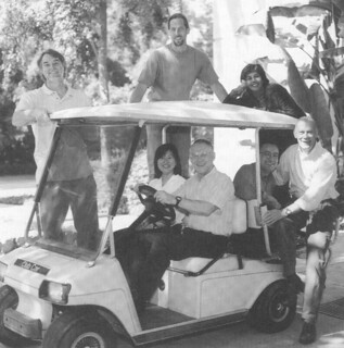 1998 Wig Distinguished Teaching Award recipients. Standing L to R: Gary Smith, Kenneth Wolf, Zayn Kassam. Seated L to R: Sharon Goto, Alvin Beilby, Adolfo Rumbos and Jon Bailey.