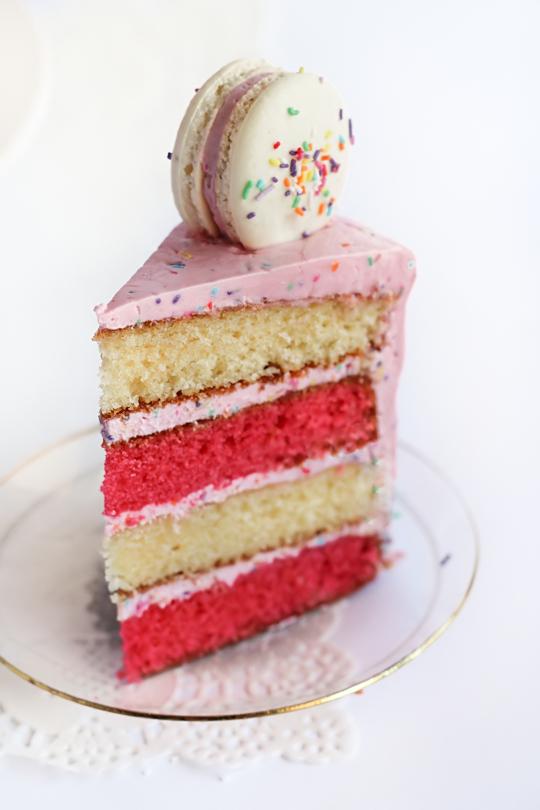 Layered Coloured Cake Recipe
