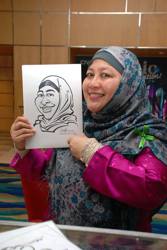 caricature live sketching for Civica Dinner & Dance 2012 - 18