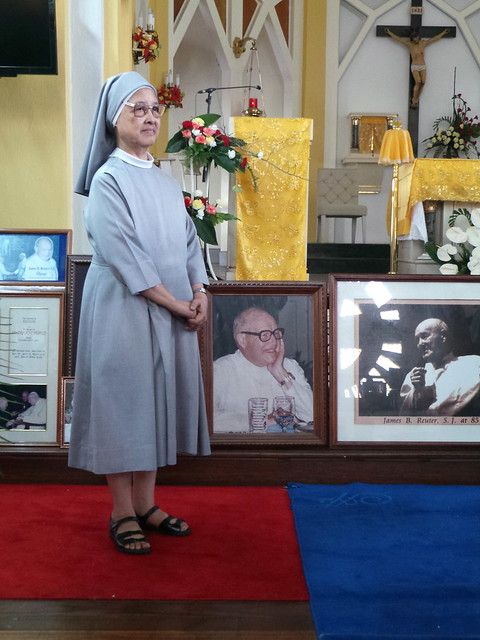 At Father Reuter's wake
