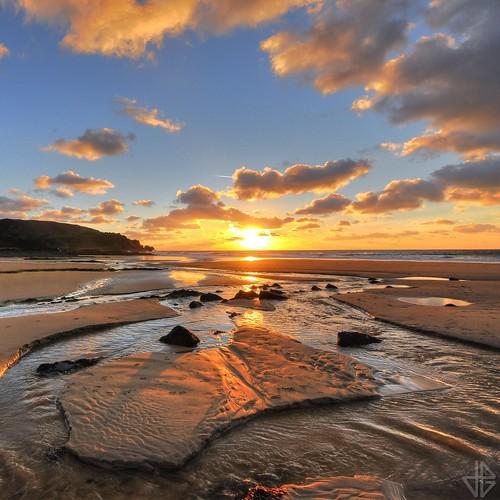 sunset beach newyear normandie normandy hdr manche happynewyear cotentin ecalgrain bonneannée nouvelleannée 2013 flickrcolour
