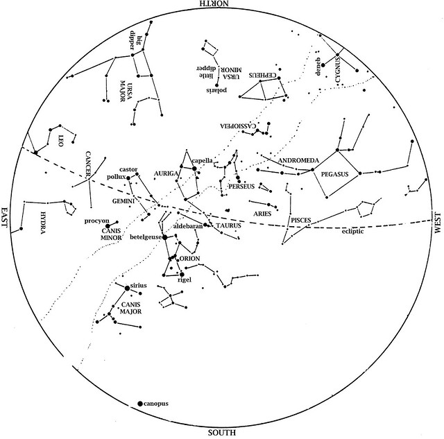Sky Map: January 2013