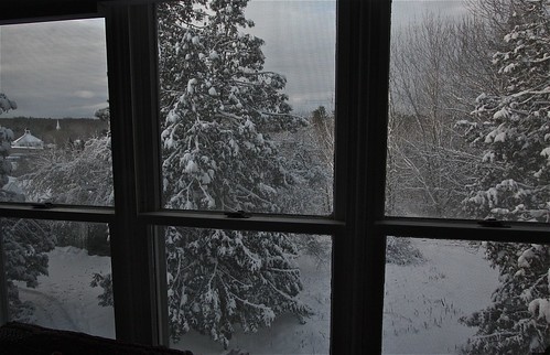 Snowy View from Upstairs