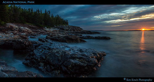 ocean water sunrise maine atlanticocean acadia acadianationalpark