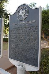 Joseph Hudson Barwise, Wichita Falls, Texas Historical Marker