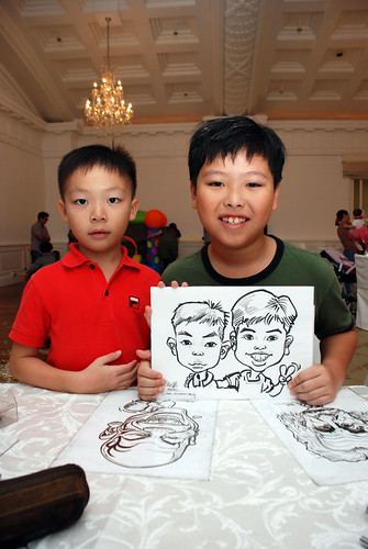 caricature live sketching for birthday party 28042012 - 15