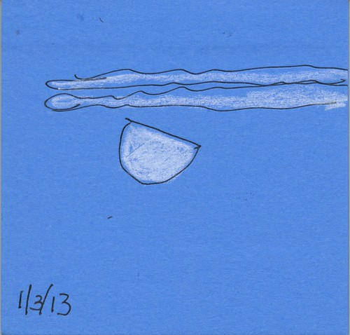 moon on a post-it by Bricoleur's Daughter
