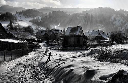 polska poland pieniny jaworki szczawnica zima winter landscape mountains góry sonya500 explore jurekp bw