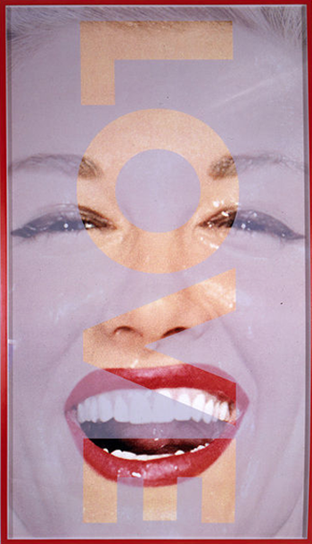 Barbara Kruger, Untitled (LOVE), 2001, Photograph 350x