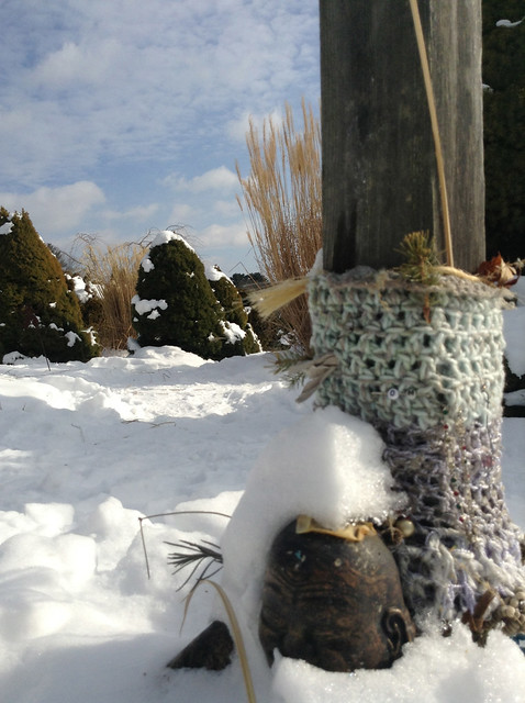 Snow-Covered Buddha, Kripalu Labyrinth