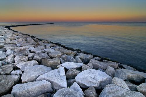 sunset rocks dusk maryland annapolis chesapeakebay annapolismaryland sandypointstatepark sandypointstateparkmaryland