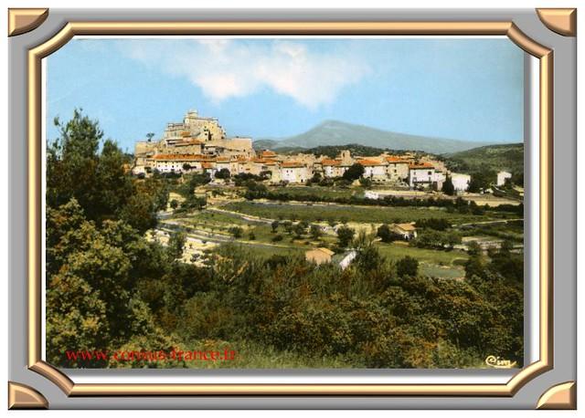 LE BARROUX (Vaucluse) Le Château et le Mont-Ventoux -70-150