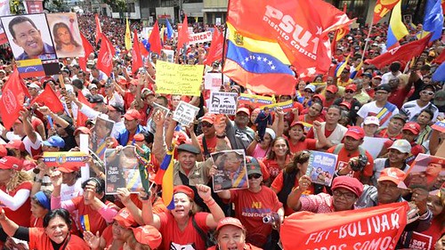 Venezuelans demonstrate in support of the Bolivarian socialist revolution. The rallies took place on January 10, 2013. by Pan-African News Wire File Photos