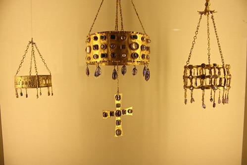 Visigothic votive crowns, Cluny Museum, Paris, France