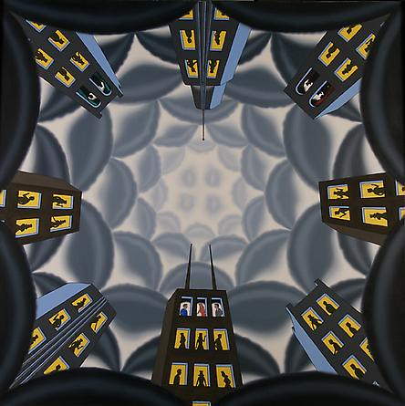 Roger Brown, Rising Above it All, 1978, Oil on canvas