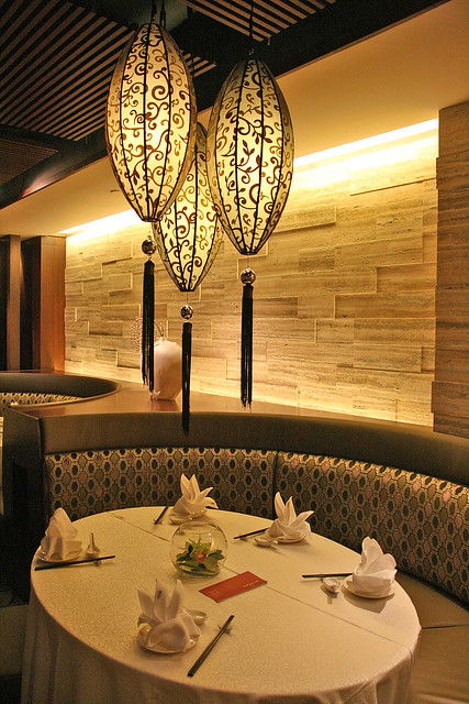 Si Chuan Dou Hua has very elegant dining settings